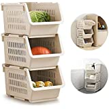 Diswa 2 Pcs Set Plastic Storage Basket Kitchen Vegetables And Fruit Storage Basket Bathroom Storage Box Garbage Storage