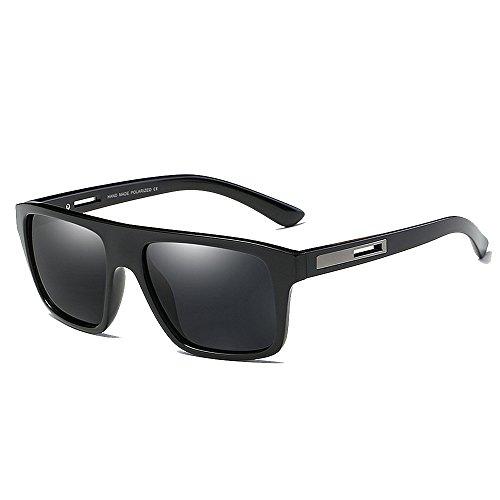 Easy Go Shopping Quadratische Form Vollformat Herren Polarisierte Sonnenbrille UV400 Schutz Fahren Radfahren Laufen Angeln Golf Sonnenbrillen und Flacher Spiegel (Farbe : C4)