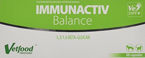 Vetfood Immunactiv Balance    Stärkung des Immunsystems von Katzen & Hunden  Bei Stress    Unterstützt nach Krankheit   60 Kapseln