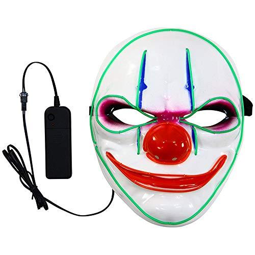 Star Kostüm Wars Rabatt - Zolimx Leuchtende bemalte Maske Scary Mask Cosplay LED Kostüm EL Wire leuchten für Halloween Festival Party