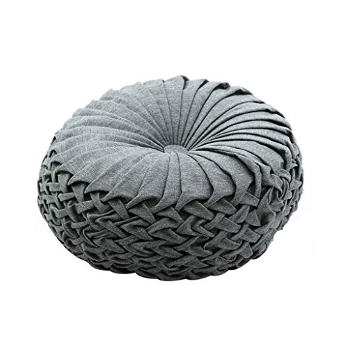 Runde Patio Kissen (ZIJUAN Boden Kissen Kissen Patio Bay Fenster Pad Runde Futon Auto Kissen BüRostuhl Yoga Druckentlastung Pad (Farbe : Gray))