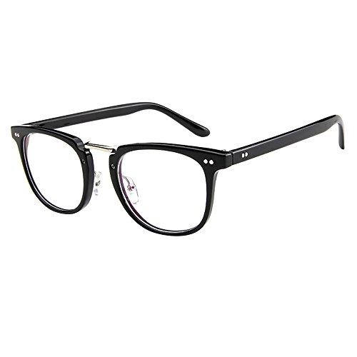 Forepin® Unisex Montatura Occhiali da Vintage Vista Occhio Frame Struttura Vetri Ottici Pianura Occhiali con Lenti Trasparenti (Stile 1)