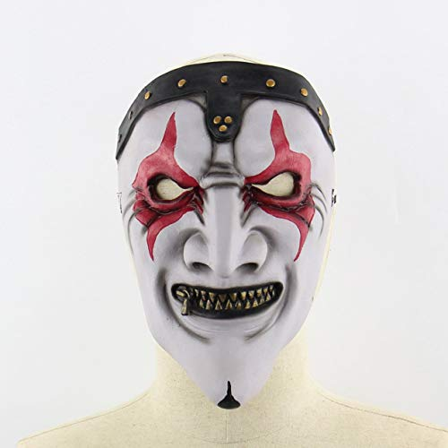 Heraihe Zipper Mund-Maske Halloween Horror Scary Haunted House Set Weihnachts Mask
