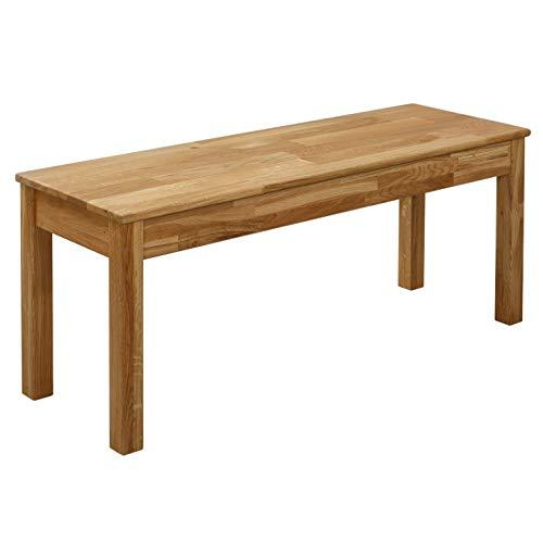 Krok Wood Sitzbank Tomas aus Massivholz in Eiche (100 x 35 x 45)
