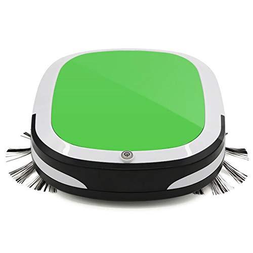 ZDStore 7 cm Ultradünn Saugroboter Intelligentes Antikollisionsdesign, 3-in-1 Selbstaufladung Roboter Staubsauger für Hartböden & Teppiche & Tierhaare,Green