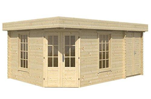 Blockhaus ABERDEEN 350 + 150 x 350cm Gartenhaus 45mm Holzhaus