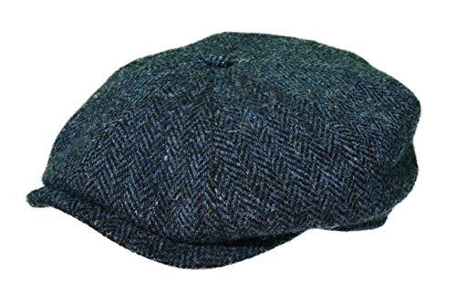Balke Mütze Harris Tweed Heringbone, Farbe:blau, Größe:58 Polyester Tweed