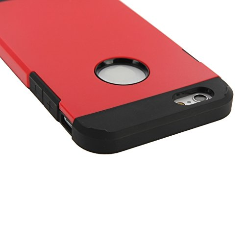 GHC Cases & Covers, Hybrid PC + TPU Tough Armor Farbe Hard Case Cover für iPhone 6 ( Color : Pink ) Red