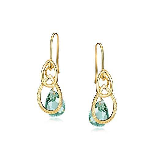 GGDGENJN S925 Sterlingsilber Ohrringe, Die Personalisierte Halb Handbuch Multifunktions Ohrringe Einfache Damen Überzog 9K Gold Anhänger, Ohrringe