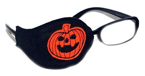 Kinder und Erwachsene Orthoptic AUGENKLAPPE für Amblyopia Lazy Occlusio Eye Therapy KUR-Design#16, Halloween-Kürbis, Schwarz (Halloween Maks)