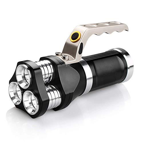 Zmsdt LED-Taschenlampe Scheinwerfer IP65 Wasserdichte Taschenlampe 2400 Lumen CREE T6 Flutlicht Für Camping, Wandern, Radfahren Und Notfall