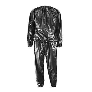 Saunaanzug – TOOGOO(R)Heavy Duty Fitness Gewicht Verlust Anzuege PVC Sauna Anzug Fitness Studio Schwarz L-Code