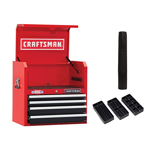 CRAFTSMAN Tool Chest, 26-Inch, 4 Drawer, Red (CMST82768RB)