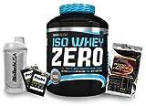 Biotech USA Iso Whey Zero (1 x 2.27 kg) + Shaker + 200 Amino Tabs 1600mg + Proben (Cookies&Cream)