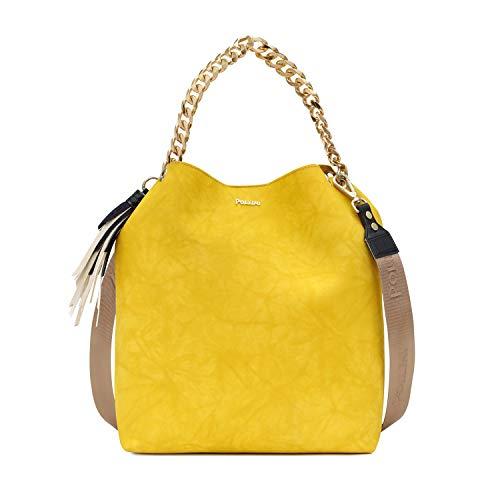 439792226e Pollini Darlene - Borse a spalla Donna, Giallo (Yellow), 12x30x35 cm (