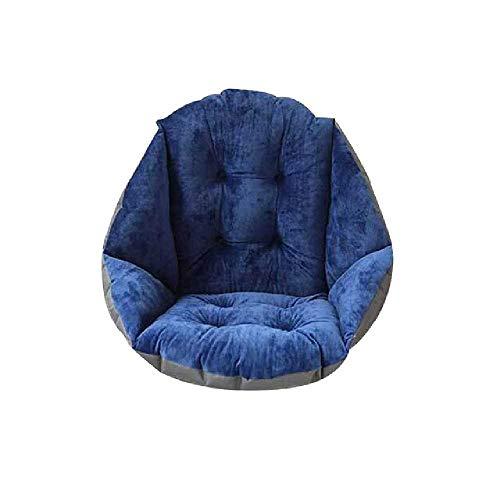 DUNDUNGUOJI DUNDUNGUOJI Cushions Soft Plush Shell Design Seat Kissen Lumbar Back Support Kissen für Beach Home Office Car Seat Chair Buttocks Pad Blau (Gesunde Back-office-stuhl)