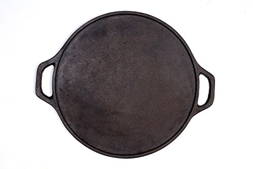 Rock Dosa Tawa PAN 12 In Pre-Seasoned Cast Iron Skillet