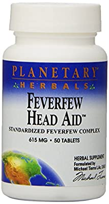 Planetary Herbals Feverfew Head Aid (615mg, 50 Tablets) from Planetary Herbals