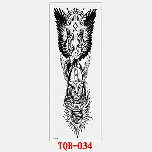 adgkitb Full-Arm Big Picture Tattoo Aufkleber TQB-034 17x48cm (Big Toy Brust Kinder)