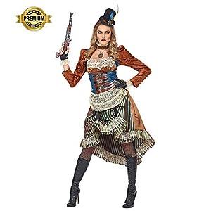 widmann srl-grp08071vd disfraz Steampunk de mujer para Adultos, Multicolor, pequeño, grp08071vd