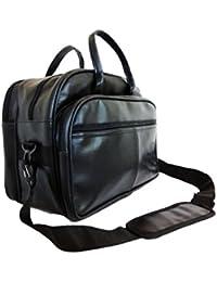 DARA Artificial Soft Leather 16-Inch Black Laptop Briefcase,Laptop Bag,Office Bag