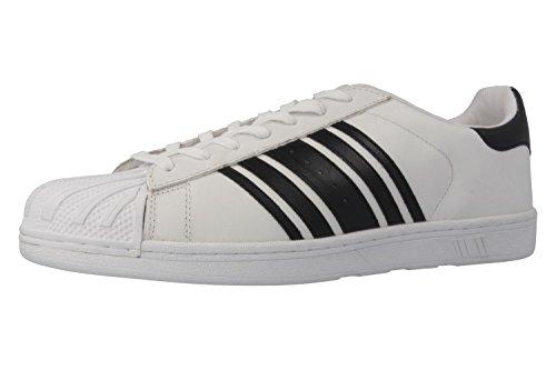 Boras  Comeback, chaussons d'intérieur homme Blanc - Weiß/Schwarz