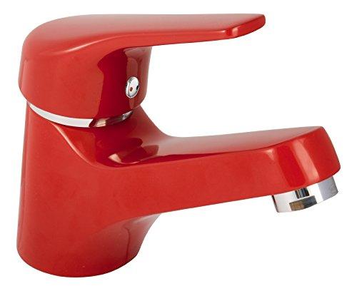Jetmix Waschtisch-Einhandmischer | Waschbecken Wasserhahn | Badarmatur | Rot