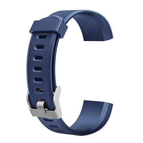 YiGaTech Braccialetto di Ricambio per ID115 HR Plus, Fitness Yamay Tracker | moreFit Slim HR Plus | HolyHigh YG3 Plus HR | CAMTOA 115 Plus | NAKOSITE RAM2433 | Mpow | HR Plus di kg Physio (Blu)