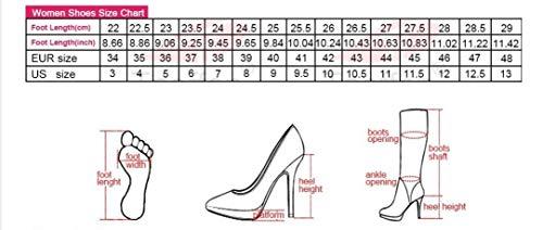 44f62de70ad29 HAOLIEQUAN Size 34-48 Knee Boots Women High Heel Bowtie Zipper Winter Women  Long Boots Korean Fashion Shoes Winter Footwear,Black,5