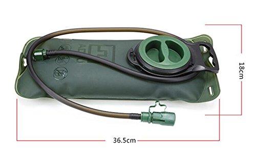 Aotu 2L Trinkblase Tasche Rucksack Wasserreservoir Pack System Wasser Tasche für Wandern Radfahren Walking Laufen Klettern Grün