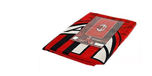Milan 8934 272 2110 telo mare in spugna, 100% cotone, rosso/nero, 140 x 70 x 1 cm
