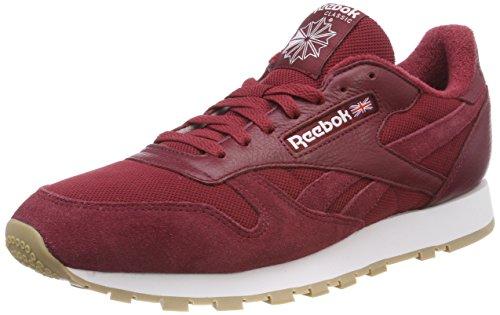 Reebok Herren Classic Leather ESTL Sneaker, Rot (Urban Maroon/White), 41 EU