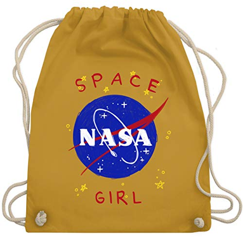 Up to Date Kind - Space Girl - Unisize - Senfgelb - WM110 - Turnbeutel & Gym Bag (Lustige Date Kostüm)
