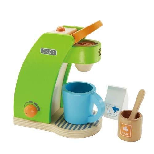 Preisvergleich Produktbild Hape Kaffeemaschine aus Holz Kinder Küchenspielzeug für Kaufladen Kinderküche Spielküche Rollenspiele