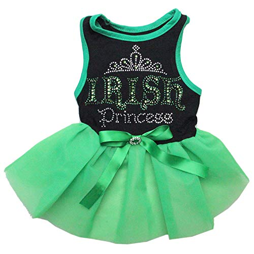 Kirei Sui Pets St. Patricks Day Hunde Grün Tutu Party Kleid, M, Irish Princess