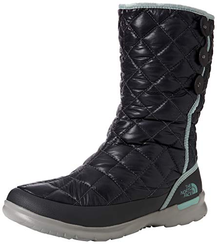 THE NORTH FACE Damen Thermoball Button-up Insulated Schneestiefel, Schwarz (Shiny Blackened Pearl/Blue Haze 5qc), 39 EU North Face Pearl