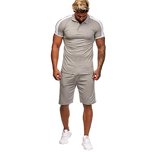 Herren Kurzarm T-Shirt Kompressions Shirt Base Layer Pants Set Herren Herbst Verdicken Sweatshirt Oberteile Hosen-Sets Sportkleidung Trainingsanzug