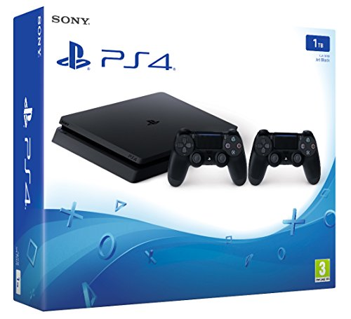 Playstation-4-1-TB-D-Chassis-Slim-2-Controller-Dualshock-Wireless-Importacin-Italiana