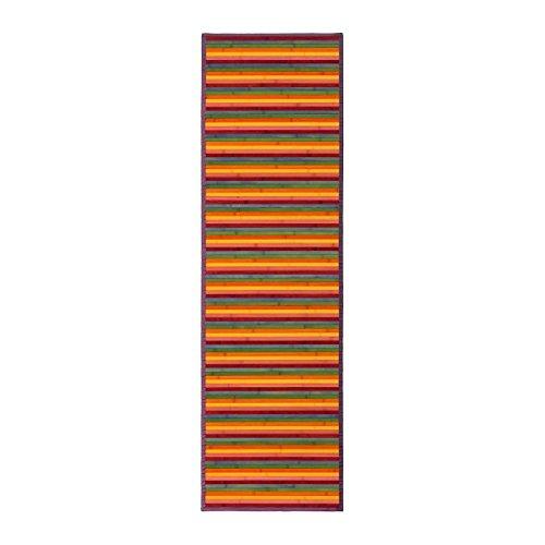 Alfombra pasillera pop naranja de bambú para pasillo de 60 x 200 cm I