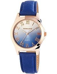 387737601225 Excellanc Reloj Analógico para Mujer de Cuarzo con Correa en Cuero ...