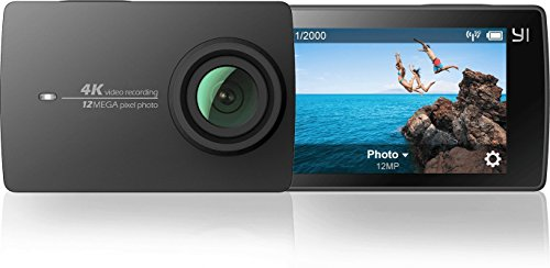 YI 4K Action Kamera Full HD 12MP Actioncam WIFI mit 155° Weitwinkel Schwarz - 2