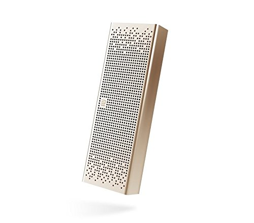 Xiaomi Mi Bluetooth Speaker, Wireless Portable Mini Bluetooth 4.0 Square Box Speakers MP3 Player Pocket Audio Support Handsfree TF Card AUX-in for iPhone, Smartphone, Tablet, TV, Notebook Gold