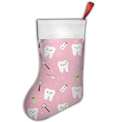 Dental Fabric Toothpaste Mini Christmas Stockings Gift & Treat Bag,for Favors and Decorating