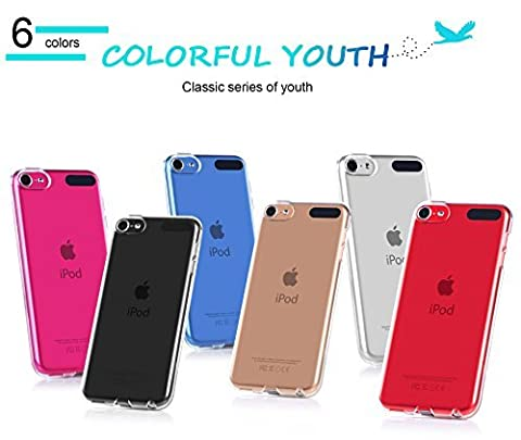 iPod Touch 6G Hülle,Apple iPod Touch 6G Hülle,Fyy® [Super Slim Fit] Glasklare leichtgewichte Hülle für Apple iPod Touch 6G Hülle,Glasklar