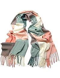 Scrox 1X Pañuelo de señora Mujeres Caliente Mantas Cozy Bufanda Larga Enrejado mantón Adecuado para otoño e Invierno Mantenga Caliente para su Cuerpo