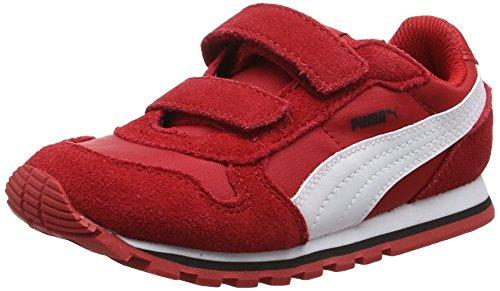 Puma St Runner Nl V Inf, Scarpe da Ginnastica Basse Unisex - Bambini, Rosso (Barbados Cherry-Puma White 15), 27 EU