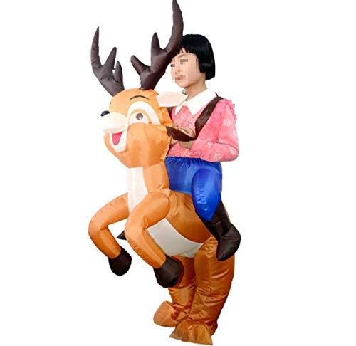 rbare Elk Kostüm-Ferienparty Rolle Spielen Kostüm Inflatable Kleidung Thanksgiving Christmas Animal Dress Up ()