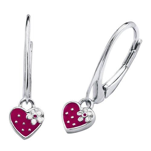 Prinzessin Lillifee Kinder-Ohrhänger Mädchen Herz Erdbeere 925 Silber emailliert pink Preisvergleich