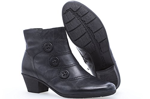 Gabor 74-695 Schuhe Damen Stiefeletten Ankle Boots Best Fitting Blau