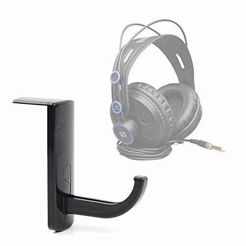 DURAGADGET Soporte/Gancho para Auriculares Klim Impact/Panasonic RP-HT161/PreSonus HD7-A/Sades A6 7.1 con adhesivo fijador. Color negro.